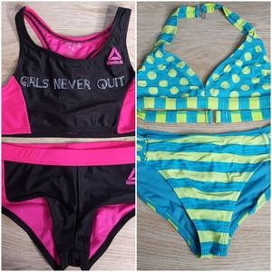 Girl's Size 8 Bikini Swim Bathing Suit Lot of 2